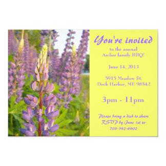 Lupine Floral Invitation