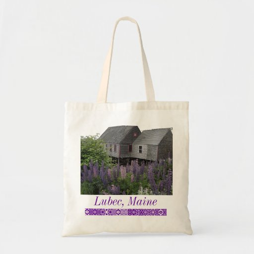 Lupine Lubec Maine Tote Bags