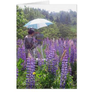 Lupine Painter 5x7 Card