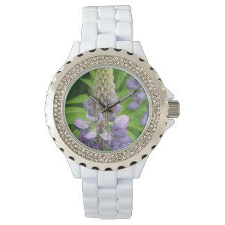 Lupine púrpura reloj de mano