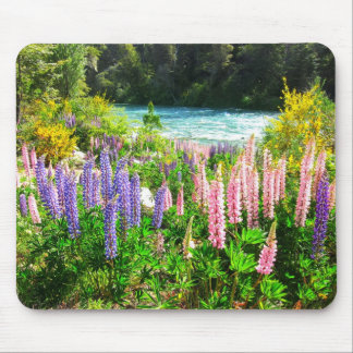 Lupines along the Rio Azul, Argentina Mouse Pad