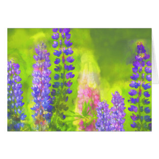 Lupines Card