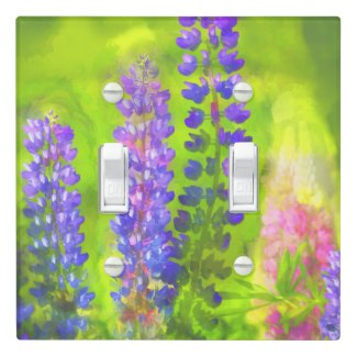 Lupines Light Switch Cover