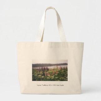 """Lupines, Vinalhaven, Maine, 1996"" Large Tote Bag"