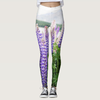 Lupins in the wild nature Leggings
