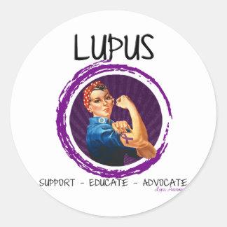 Lupus- Advocate, Educate, Support Classic Round Sticker