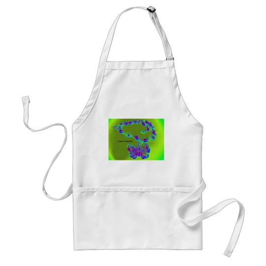 Lupus Awareness Butterfly Design Adult Apron
