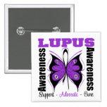 Lupus Awareness Butterfly Pinback Button