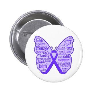 Lupus Awareness Butterfly Ribbon Pin