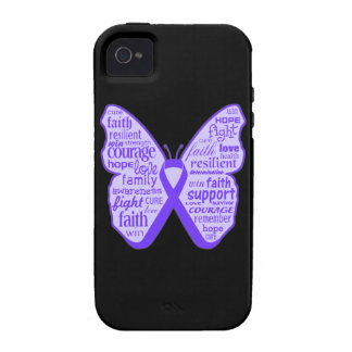 Lupus Awareness Butterfly Ribbon Vibe iPhone 4 Case
