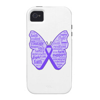 Lupus Awareness Butterfly Ribbon iPhone 4/4S Cover