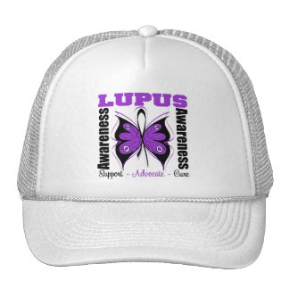 Lupus Awareness Butterfly Trucker Hat
