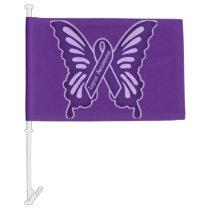 lupus awareness car flag
