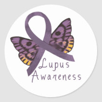 Lupus Awareness Classic Round Sticker