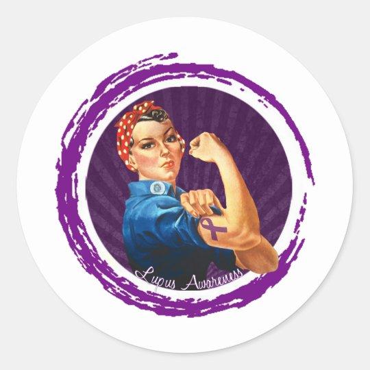 Lupus Awareness Classic Round Sticker