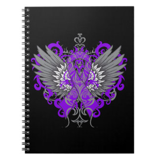 Lupus Awareness Cool Wings Spiral Notebook