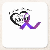 lupus awareness Fight Warrior support Gifts Square Paper Coaster