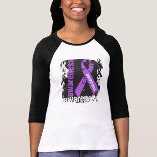 Lupus  Awareness Grunge Ribbon Tee Shirt