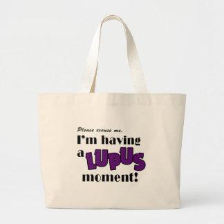 Lupus Awareness Large Tote Bag