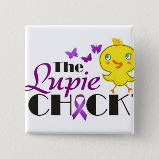 Lupus Awareness Lupie Chick Buttons