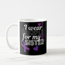 Lupus Awareness Month Purple Ribbon Sister Mug