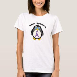 Lupus Awareness Peguin Purple Ribbon T-Shirt