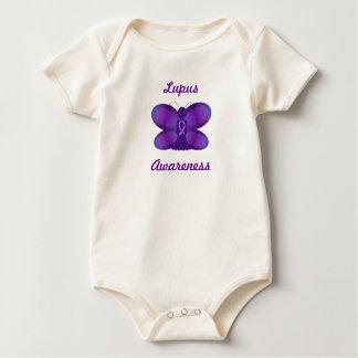 Lupus Awareness purple fairy butterfly Baby Bodysuit
