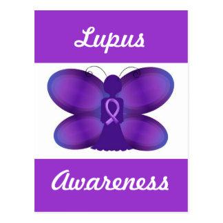 Lupus Awareness purple fairy butterfly Postcard