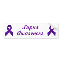 Lupus Awareness Purple Ribbon Bumper Sticker