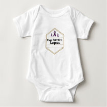 Lupus Awareness Purple Ribbon Hope Baby Bodysuit