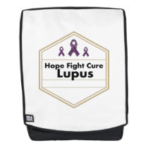 Lupus Awareness Purple Ribbon Hope Backpack