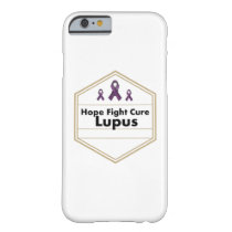 Lupus Awareness Purple Ribbon Hope Barely There iPhone 6 Case