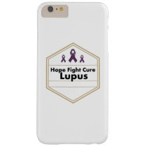 Lupus Awareness Purple Ribbon Hope Barely There iPhone 6 Plus Case