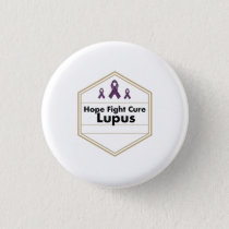 Lupus Awareness Purple Ribbon Hope Button