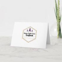 Lupus Awareness Purple Ribbon Hope Card
