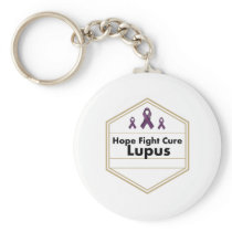 Lupus Awareness Purple Ribbon Hope Keychain