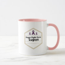 Lupus Awareness Purple Ribbon Hope Mug