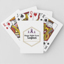 Lupus Awareness Purple Ribbon Hope Playing Cards