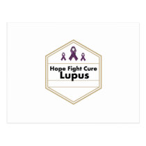 Lupus Awareness Purple Ribbon Hope Postcard