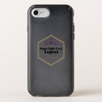 Lupus Awareness Purple Ribbon Hope Speck iPhone Case