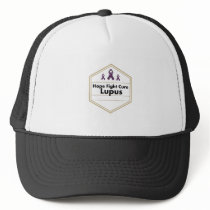 Lupus Awareness Purple Ribbon Hope Trucker Hat
