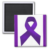Lupus Awareness Purple Ribbon Magnet