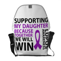 Lupus Awareness Purple Ribbon Supporting Daughter Courier Bag
