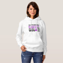 Lupus Awareness Purple Ribbon Supporting Daughter Hoodie
