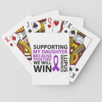 Lupus Awareness Purple Ribbon Supporting Daughter Playing Cards