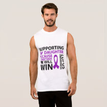 Lupus Awareness Purple Ribbon Supporting Daughter Sleeveless Shirt