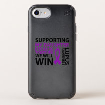 Lupus Awareness Purple Ribbon Supporting Daughter Speck iPhone Case
