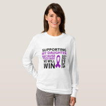Lupus Awareness Purple Ribbon Supporting Daughter T-Shirt