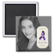 Lupus Awareness Ribbon Photo Keepsake Magnet