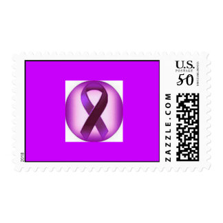 Lupus Awareness Ribbon Postage Stamps